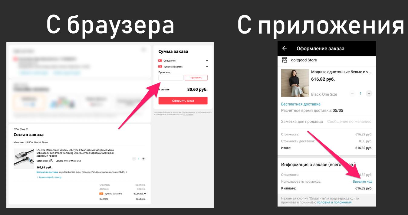 Промокоды Алиэкспресса
